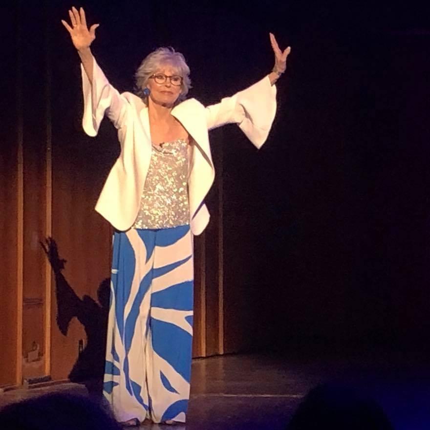 Rita Moreno speaking at the National Arts Action Summit in Washington D.C.