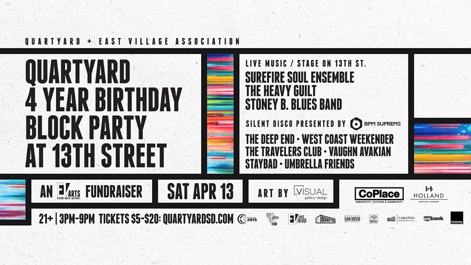 Click for more info on Quartyard 4 Year Birthday Block Party