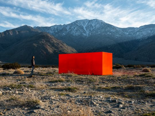 """Specter"" by Sterling Ruby for Desert X 2019  (Photo: Lance Gerber/Courtesy the artist and Desert X)"