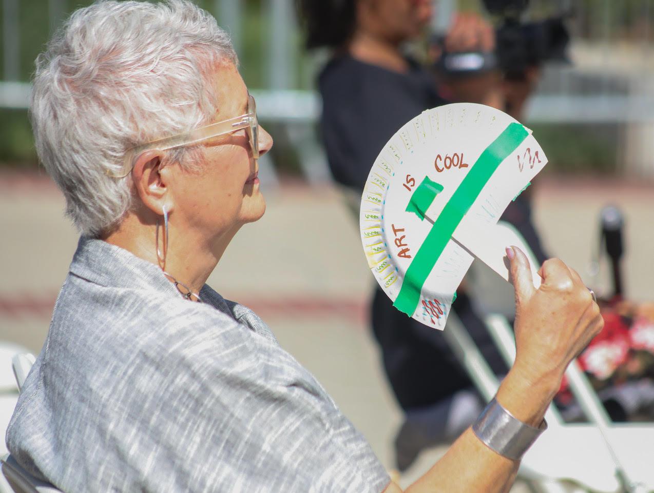 Fan making from the Crocker Art Museum