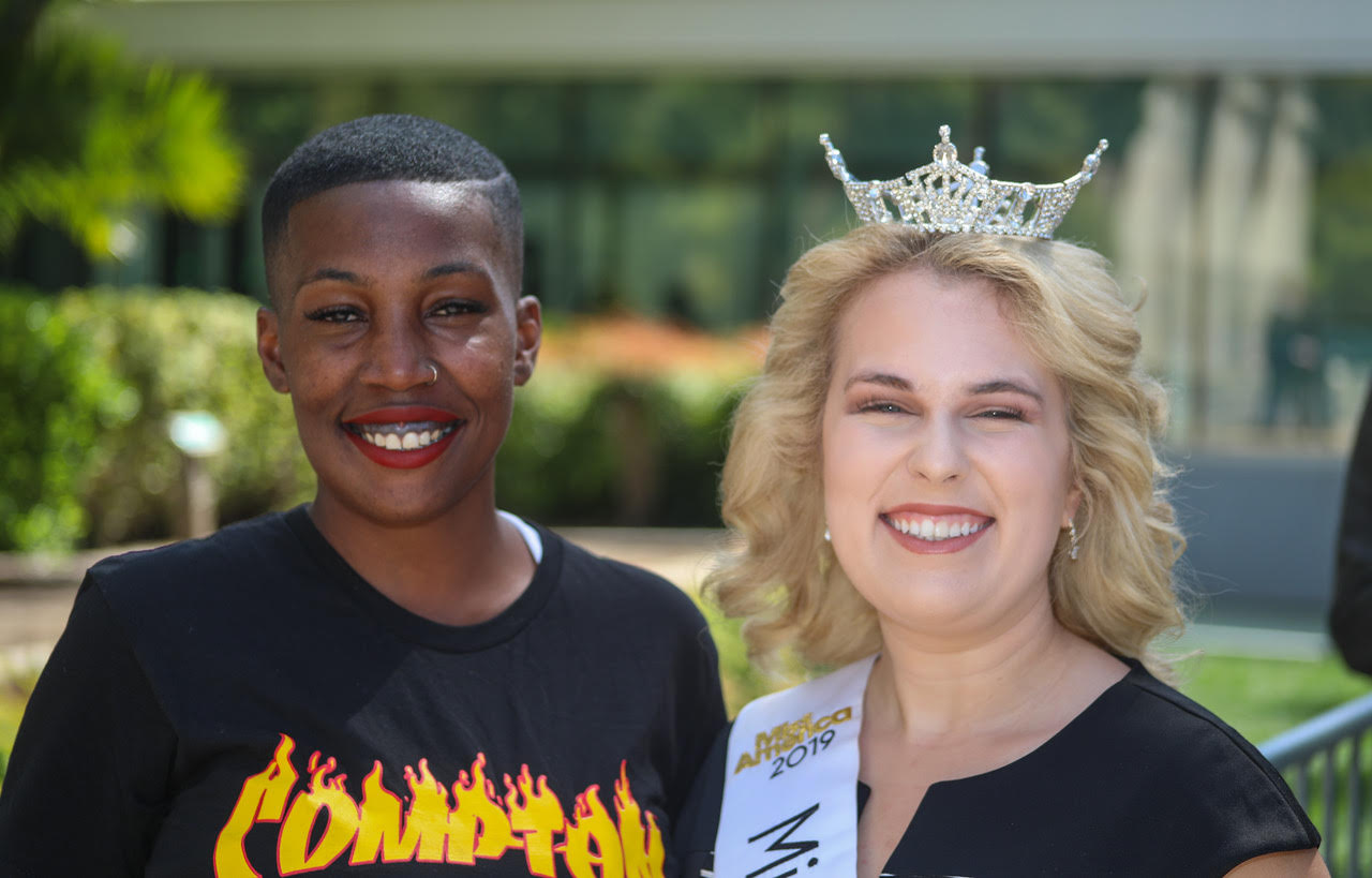 Compton Open Mic founder Jennifer 'JayBee' Beasley and 2019 Miss Central California Dana Harrison