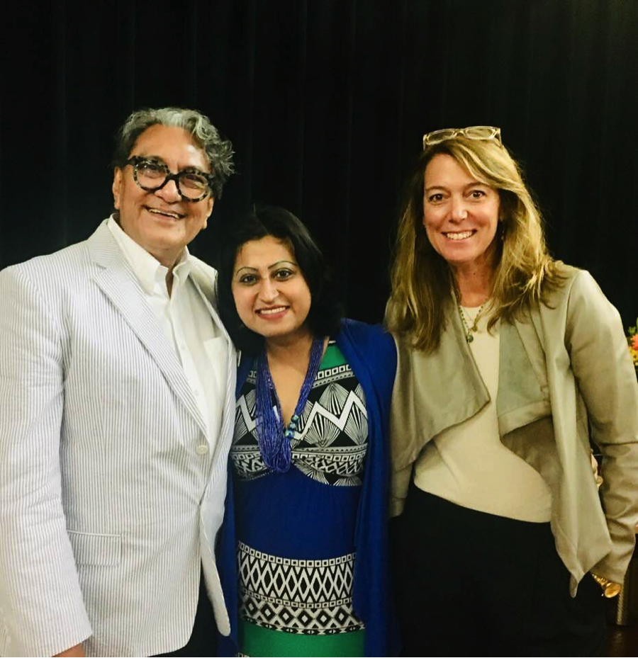 CAC Meeting: LtoR; Larry Baza, Vice-Chair CAC, Harini Krishnan, San Mateo County Arts Commissioner, Julie Baker, Executive Director, Californians for the Arts