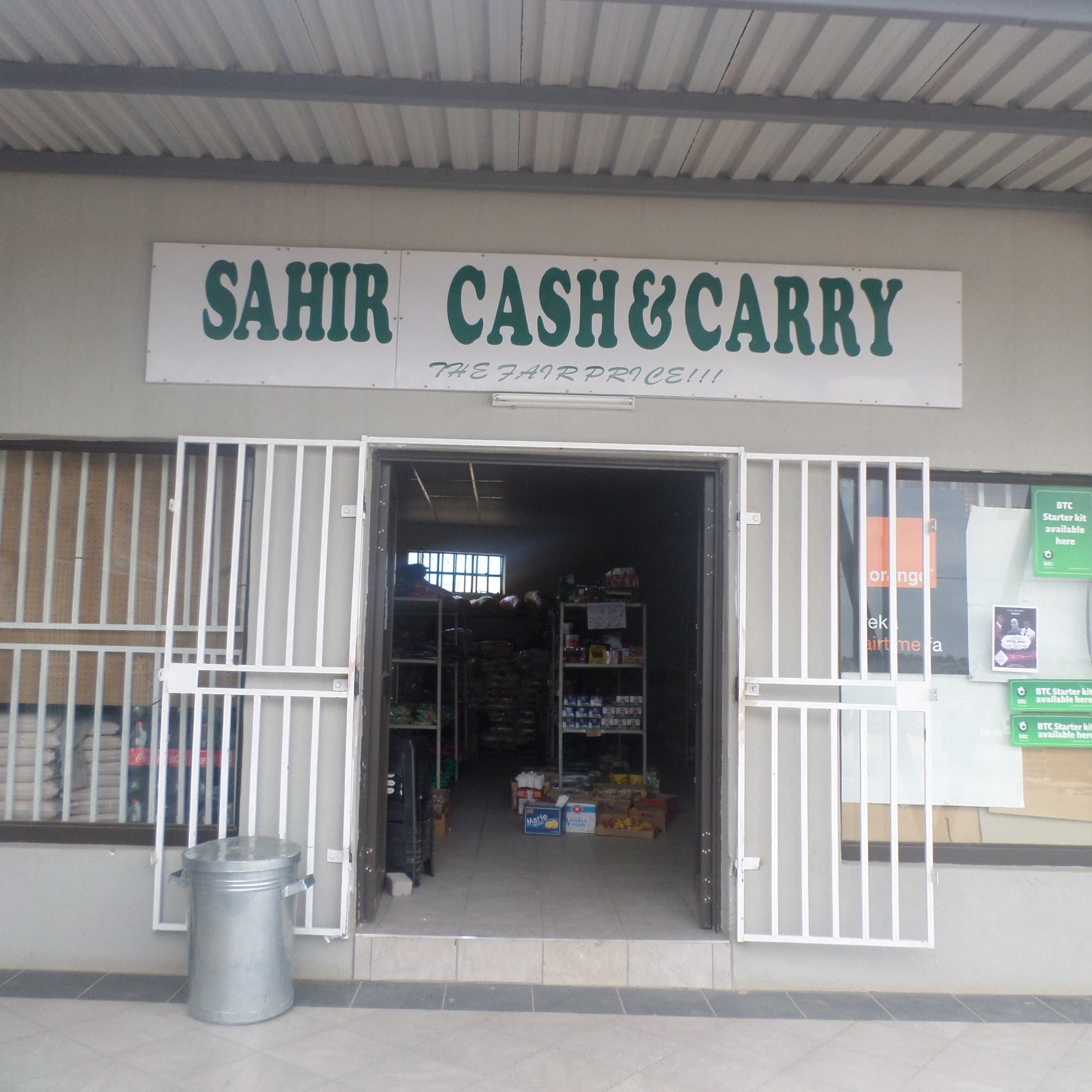 Sahir Cash & Carry - Service Description∙ Grocery , Cosmetics Hakers items, HardwareOpening Hours:Monday - Friday: 08:30-17:30Saturday: 08:30-14:30Sunday:Directions:Modimo WardContact: Alam Gir📞 (+267) 74 98 97 59✎ @