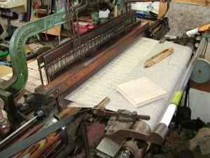 Tweed on the loom