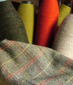 Rebecca's tweed for the study