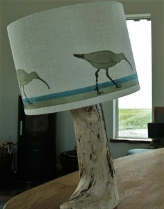 Curlew lampshade in Sitting Room