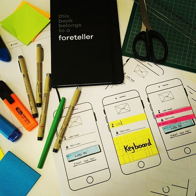 We love the moment when ideias turn into reality How incredible important is to define hierarchy and workflows using wireframes… We are ready now to share our ideas with stakeholders.  #weareforetelle #Foreteller #servicedesign #businessInnovation #uxdesigner #uxdesigning #wireframe #designthinking #methodology
