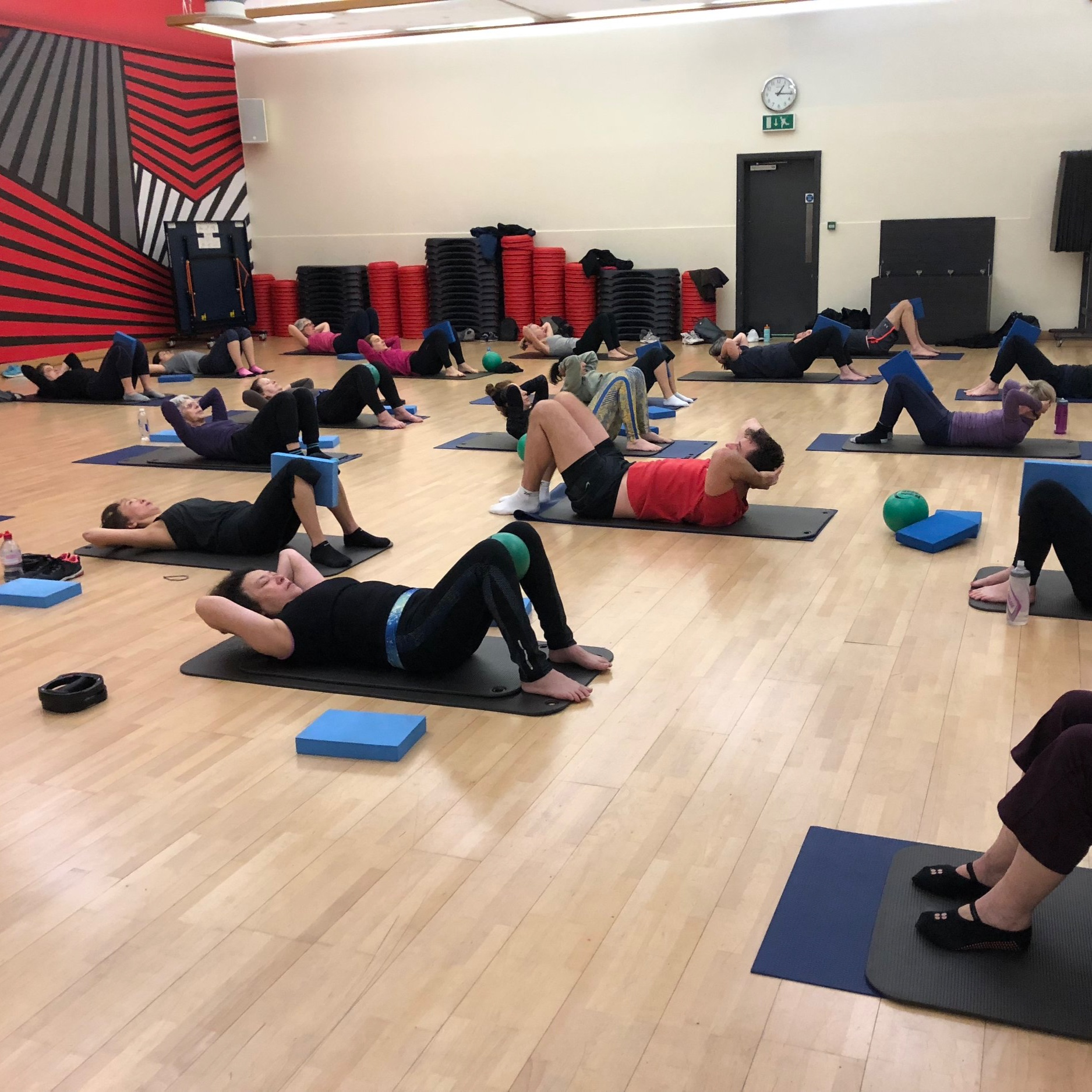 MAT PILATES    Tuesday  Virgin Active, West London (membership required) 08:30-09:30am & 09:30-10:30am   Friday  Virgin Active, West London (membership required) 12:35-13:35pm  Yoga West, Acton 16:45-17:45pm