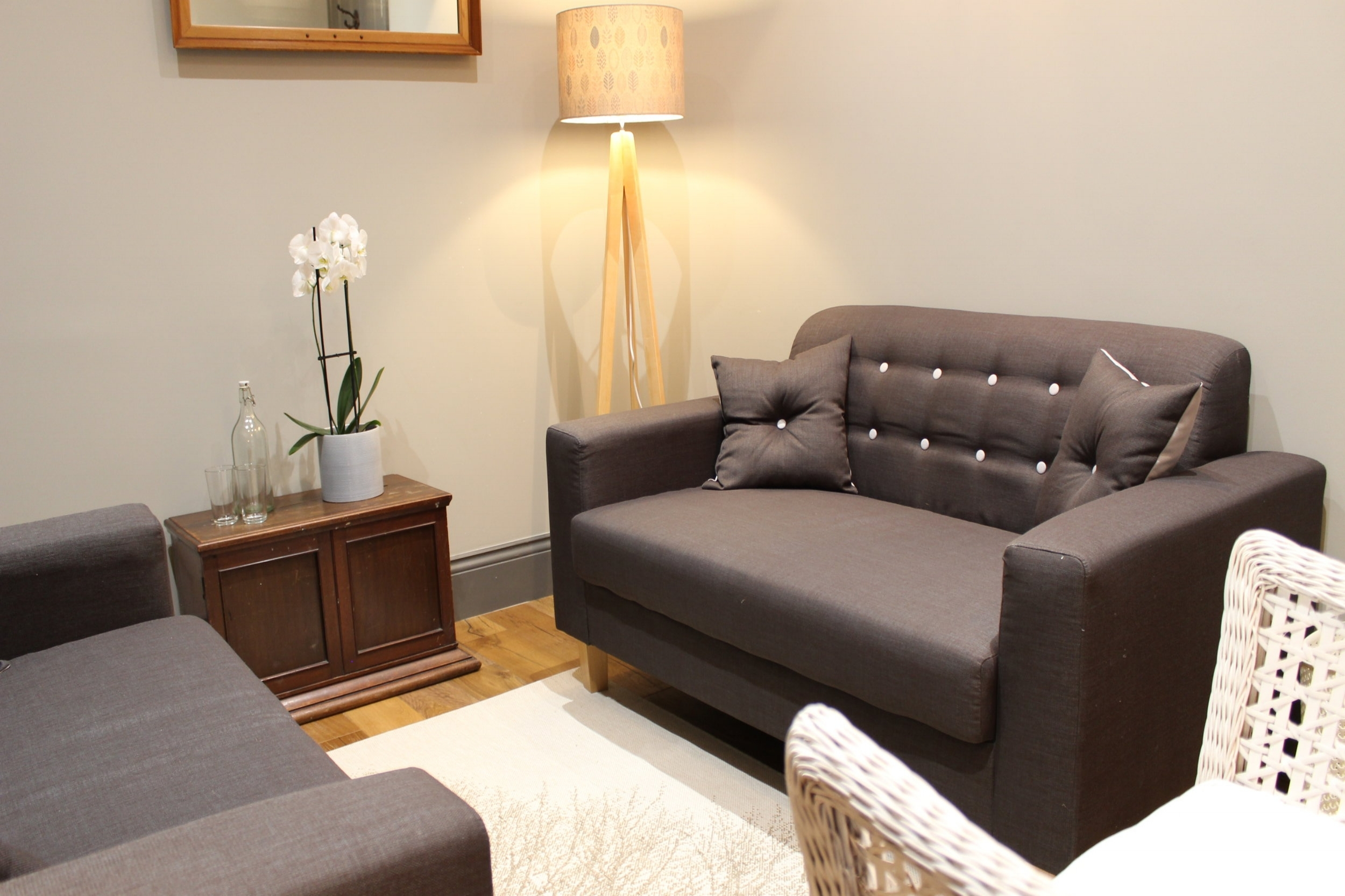 our rooms - We have five beautifully designed rooms perfect for talking therapy, with various configurations for work with couples and individuals or small groups.
