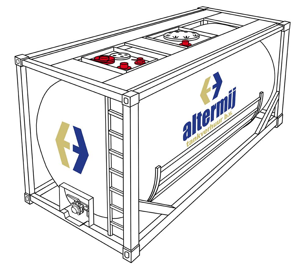 Special tank - • Ge-coate tanks voor corrosieve producten• Glycol-elektrisch verwarmd of gekoeld• Multi compartment
