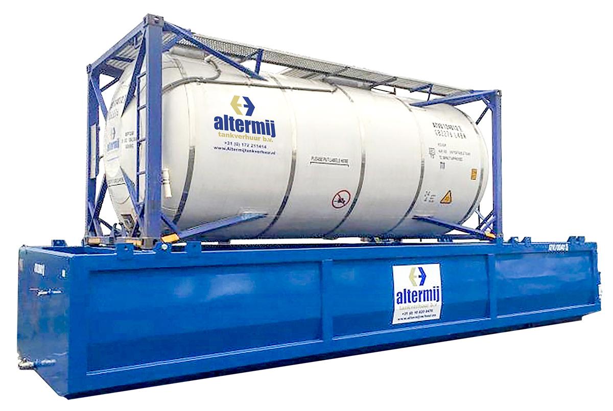 - Lekbak- Calamiteitenbak- Spilltainer - Tevens bestaat de mogelijkheid tot het huren van een lekbak, die soms vanwege milieu- en/of andere regelgeving verplicht is, en waarop 1 swap body of 1 of 2 standaard tankcontainers geplaatst kunnen worden.• 20ft of 30ft