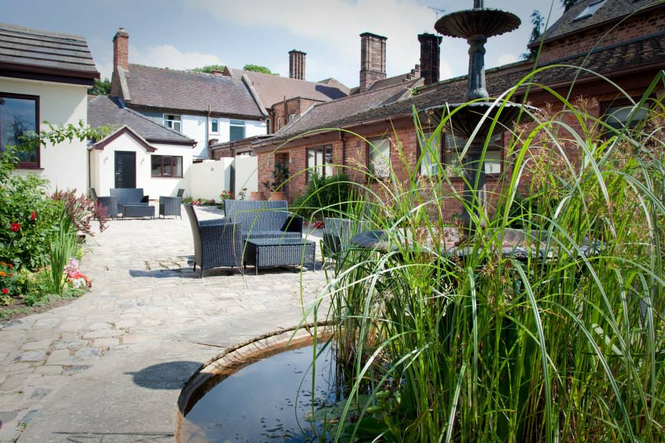 The Courtyard - Our nine boutique style garden rooms, offer ground floor access, rainfall showers and king size beds. They are ideally situated within the grounds, close to the Main Hall.