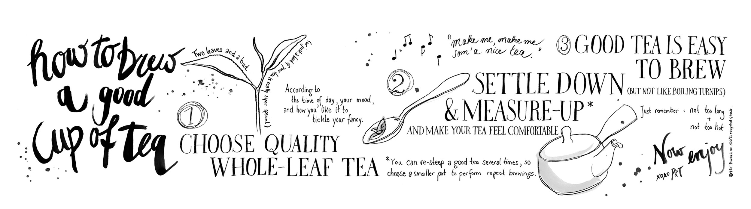 P & T – Paper and Tea: How to brew a good cup of tea