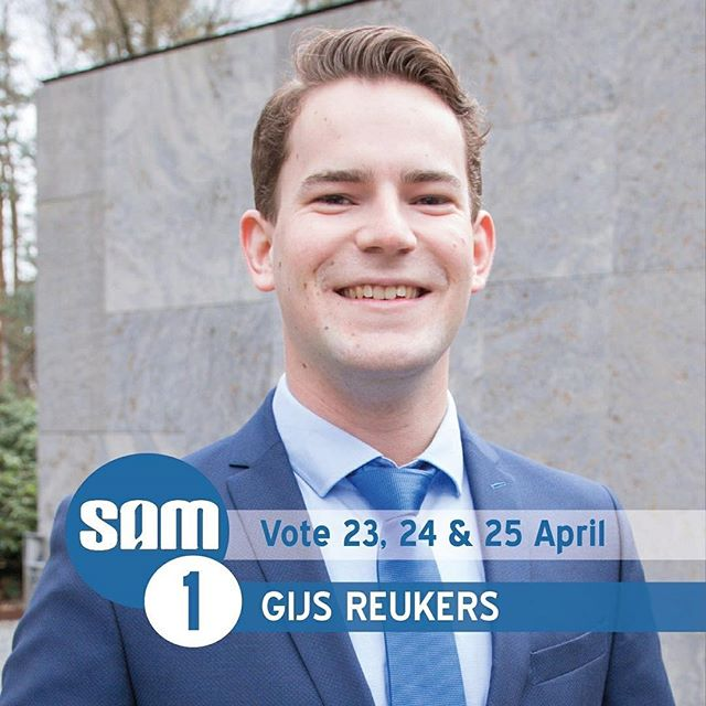 And last but not least, it's our #1's turn to introduce himself! Gijs Reukers studies business economics and is a member of T.S.C. St. Olof and the fraternity Les Sauvages. Like many students, Gijs has noticed that the university has grown fast, he wants to make sure next year that this growth will not harm students!
