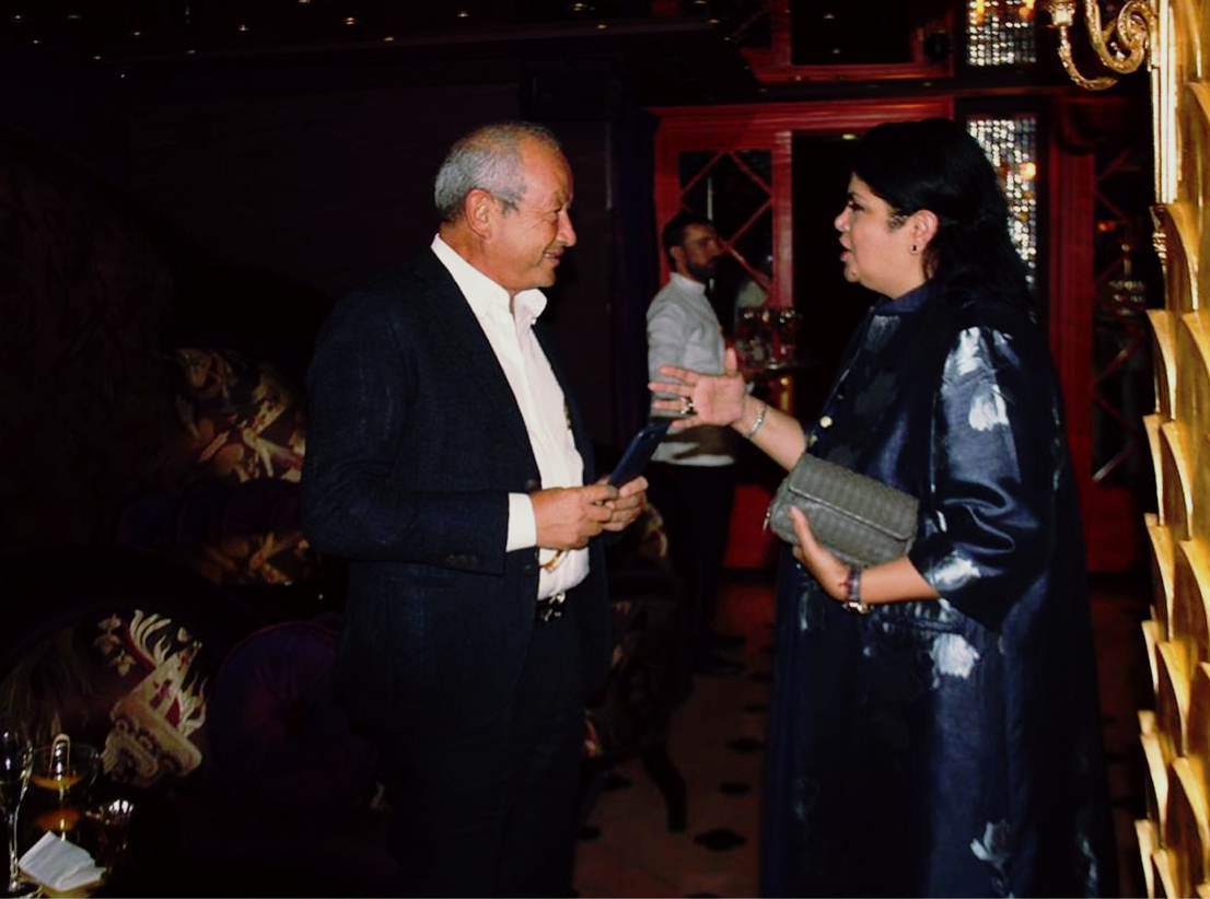 Nadia Aldoseri with Mr. Naguib Sawiris