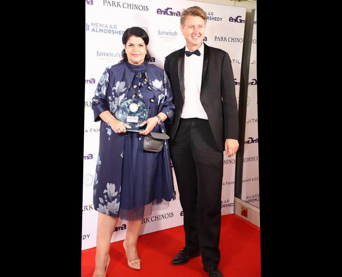 Nadia Aldoseri with Per Wimmer