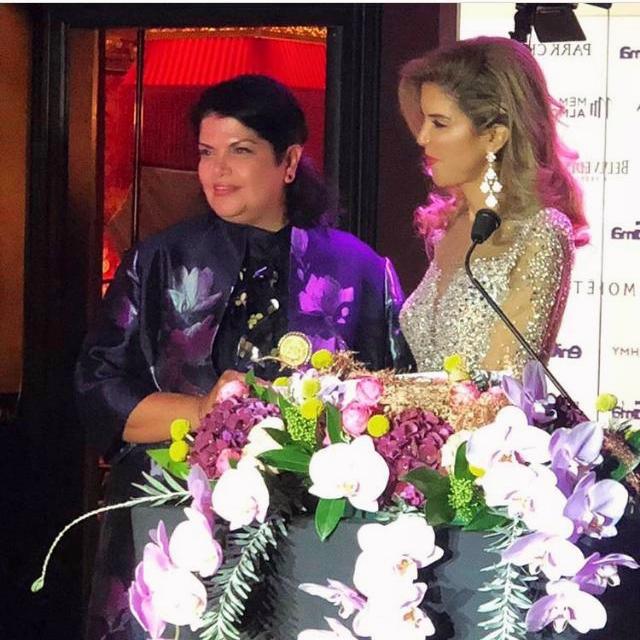 Nadia with Yasmine Shihata, Founder of Enigma Magazine