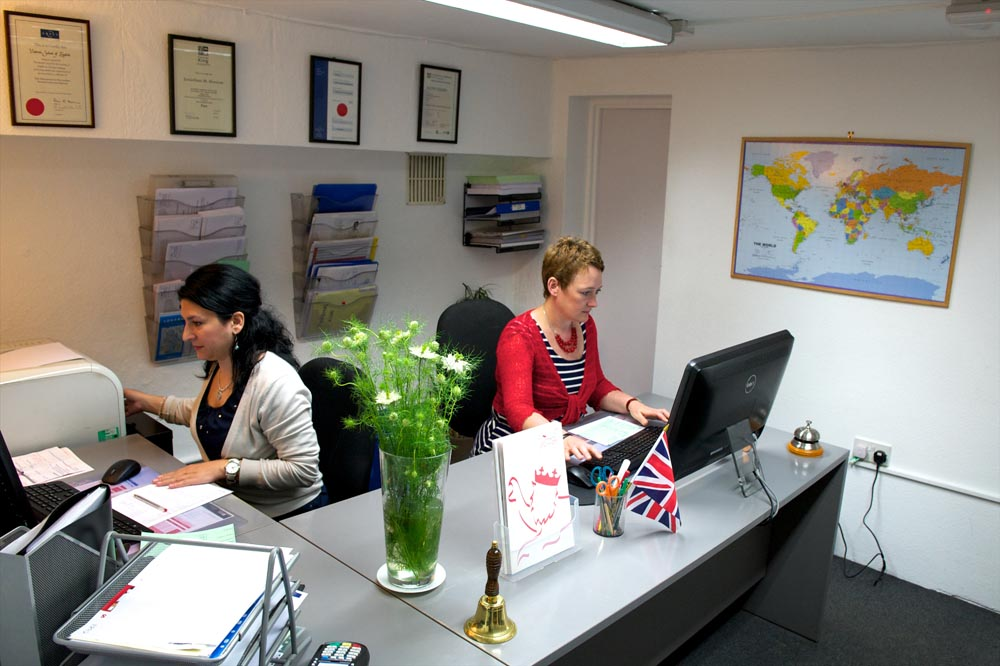 reception at victoria school of english