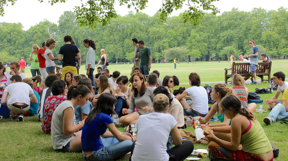 Our picnic and sports day in Battersea Park -