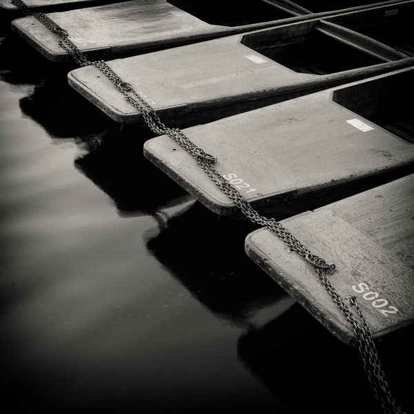 CAM_03 Cambridge Boating Punts III. Limited edition photographic print by Paul Coghlin