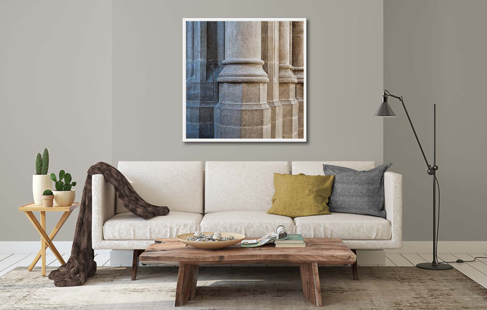 Stonecraft VII. Abstract study of stonecraft showing stone columns. Limited edition photographic prints by fine art photographer Paul Coghlin FBIPP.