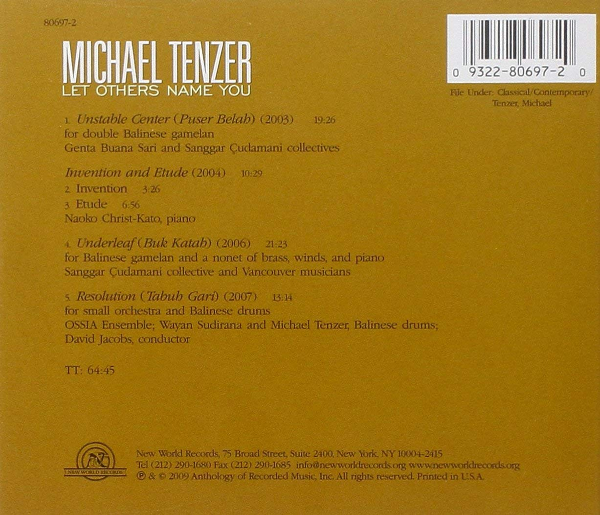 Michael Tenzer: Let others name you