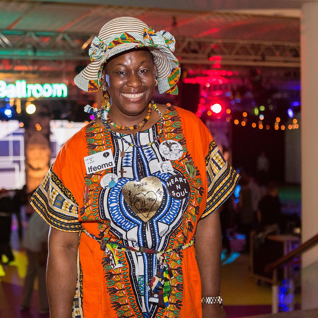 """- """"Heart n Soul means being less isolated, getting stimulated and motivated, getting skills, being together and happy""""-Ifeoma, Artist"""