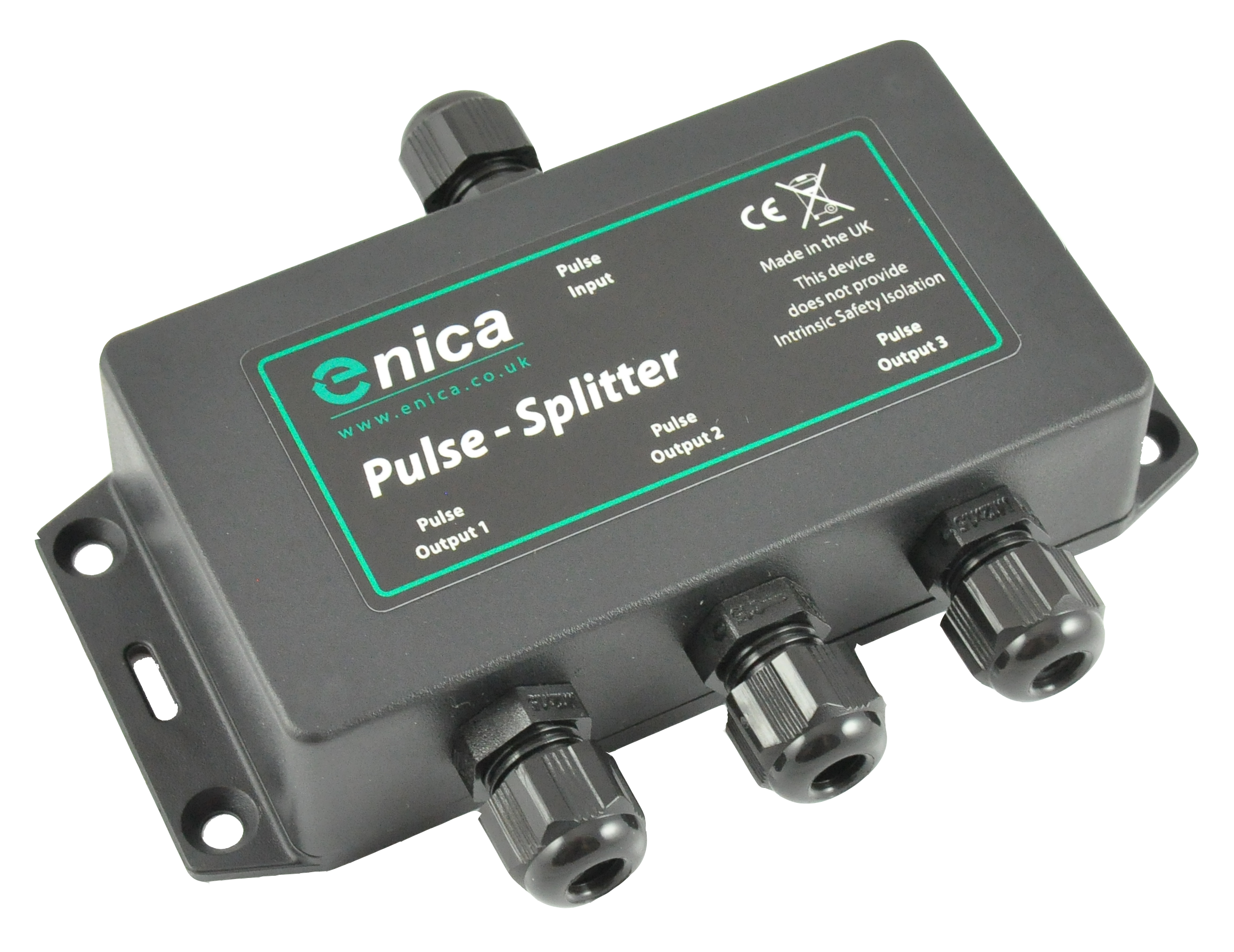 Passive pulse splitters - Enica's range of pulse splitters allow the connection of up to 3 different pulse data loggers to a single pulse meter. Useful when multiple AMR loggers are present on the same meter.