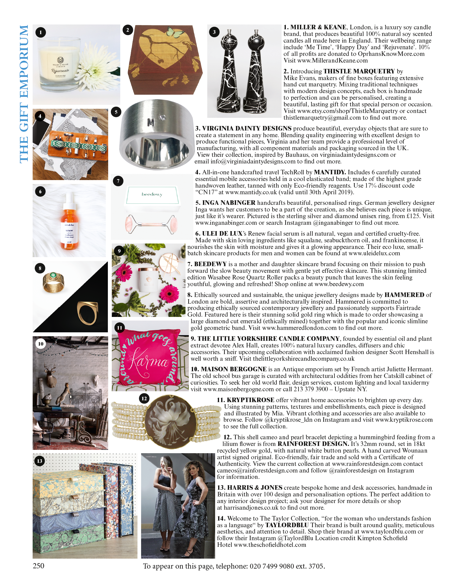 As seen in World of Interiors // April 2019 // The Gift Emporium