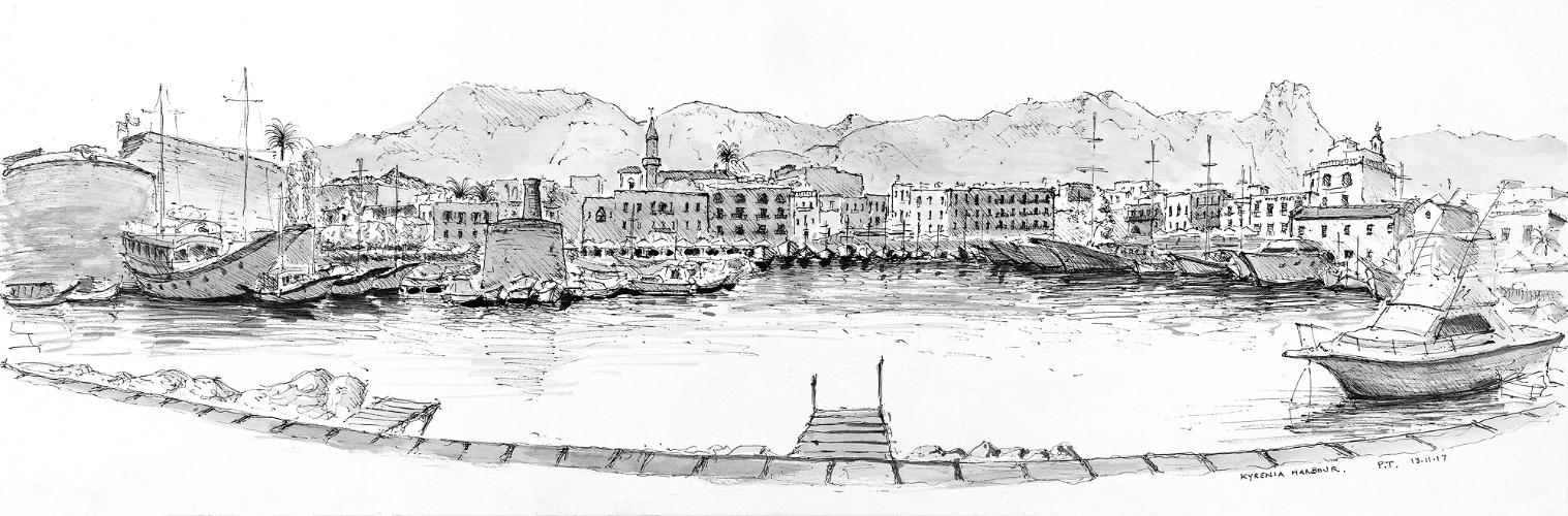 Kyrenia Harbour panorama