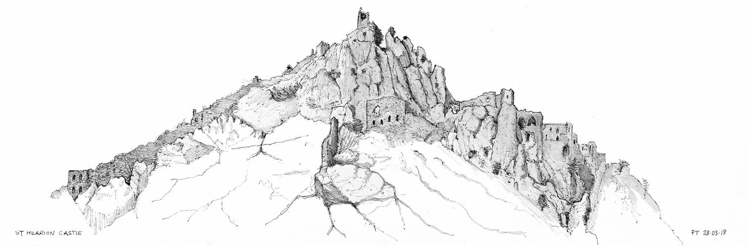 St Hilarion Castle, panorama