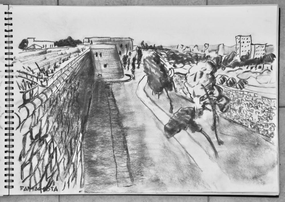 Venetian Wall (looking south), Famagusta