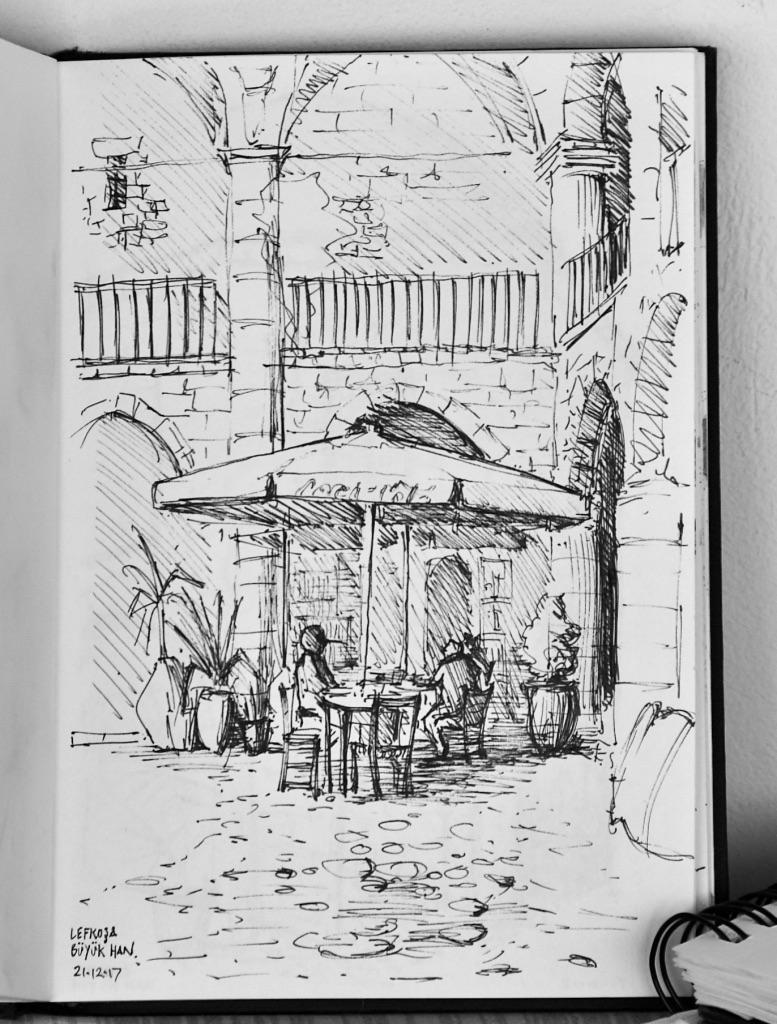 Buyuk Han cafe, Nicosia