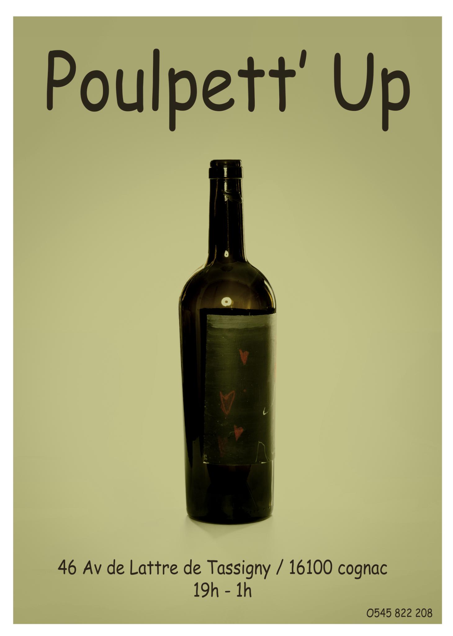 Quoi? - Du vin, des baozi , de la musique et du chocolat !Poulpett'up tous les Samedis soirs chez Poulpettesans réservation de 19h à 1h.https://www.instagram.com/poulpettup/