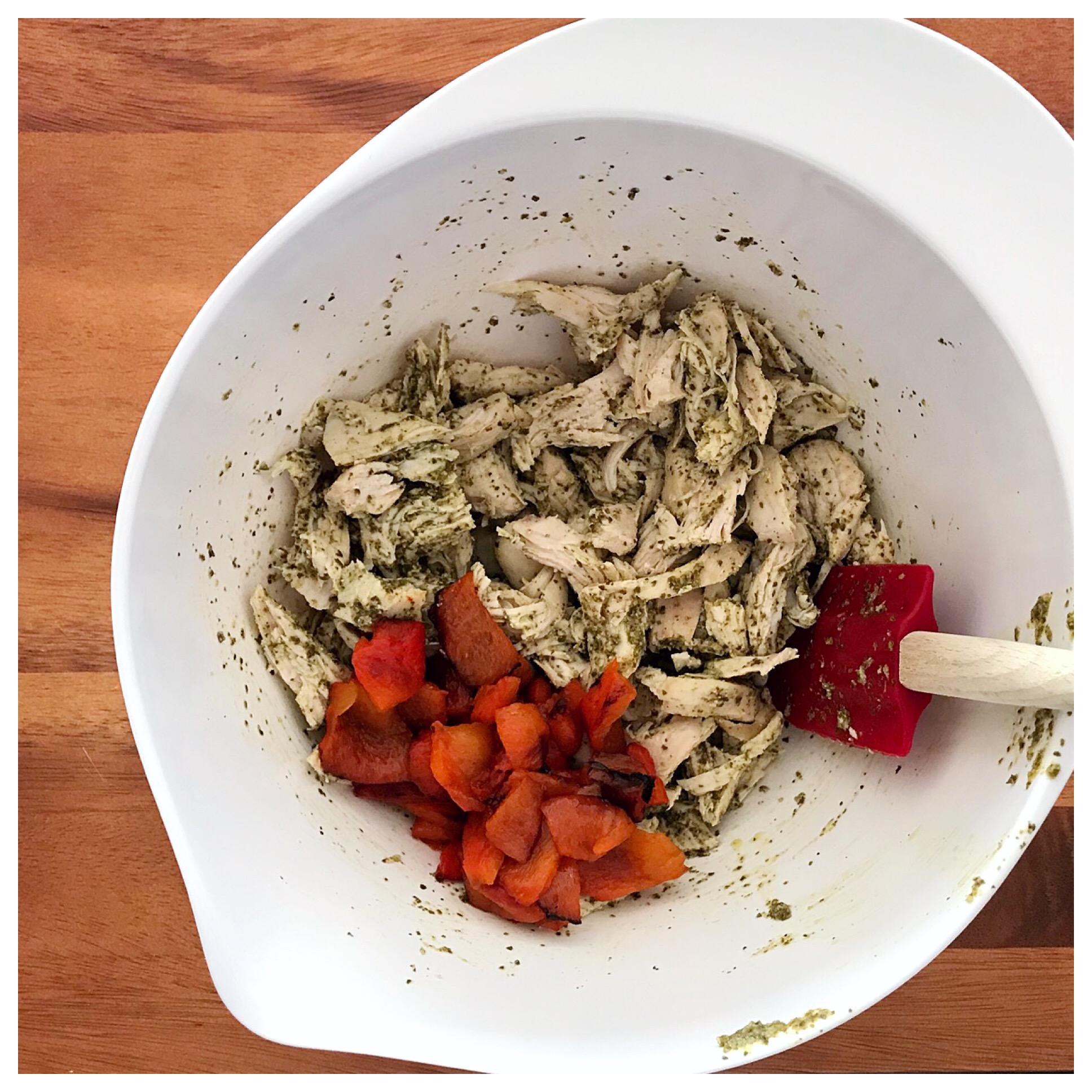 Add Peppers to Chicken.JPG