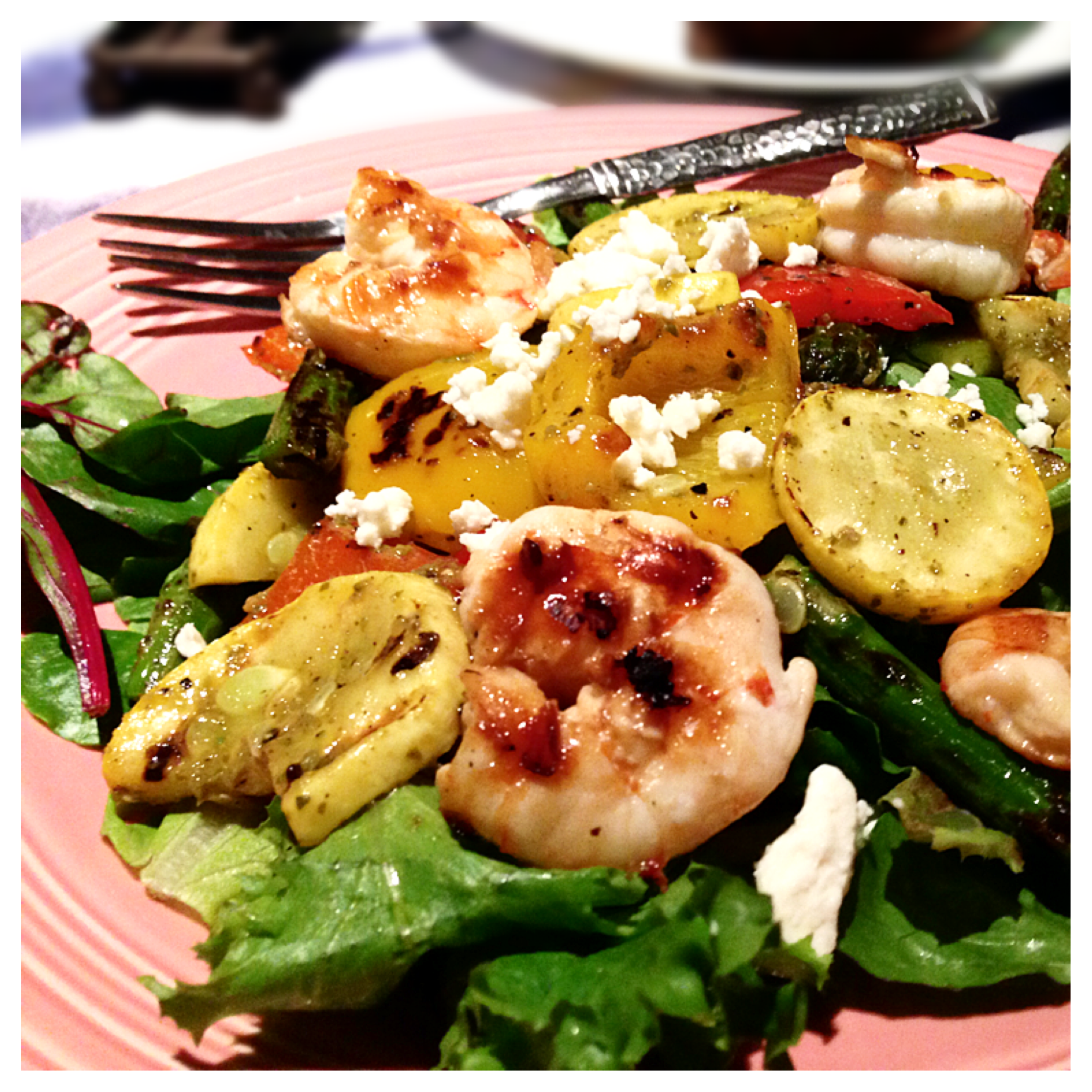 Grilled Pesto Veggie Salad with Honey Balsamic Shrimp.PNG