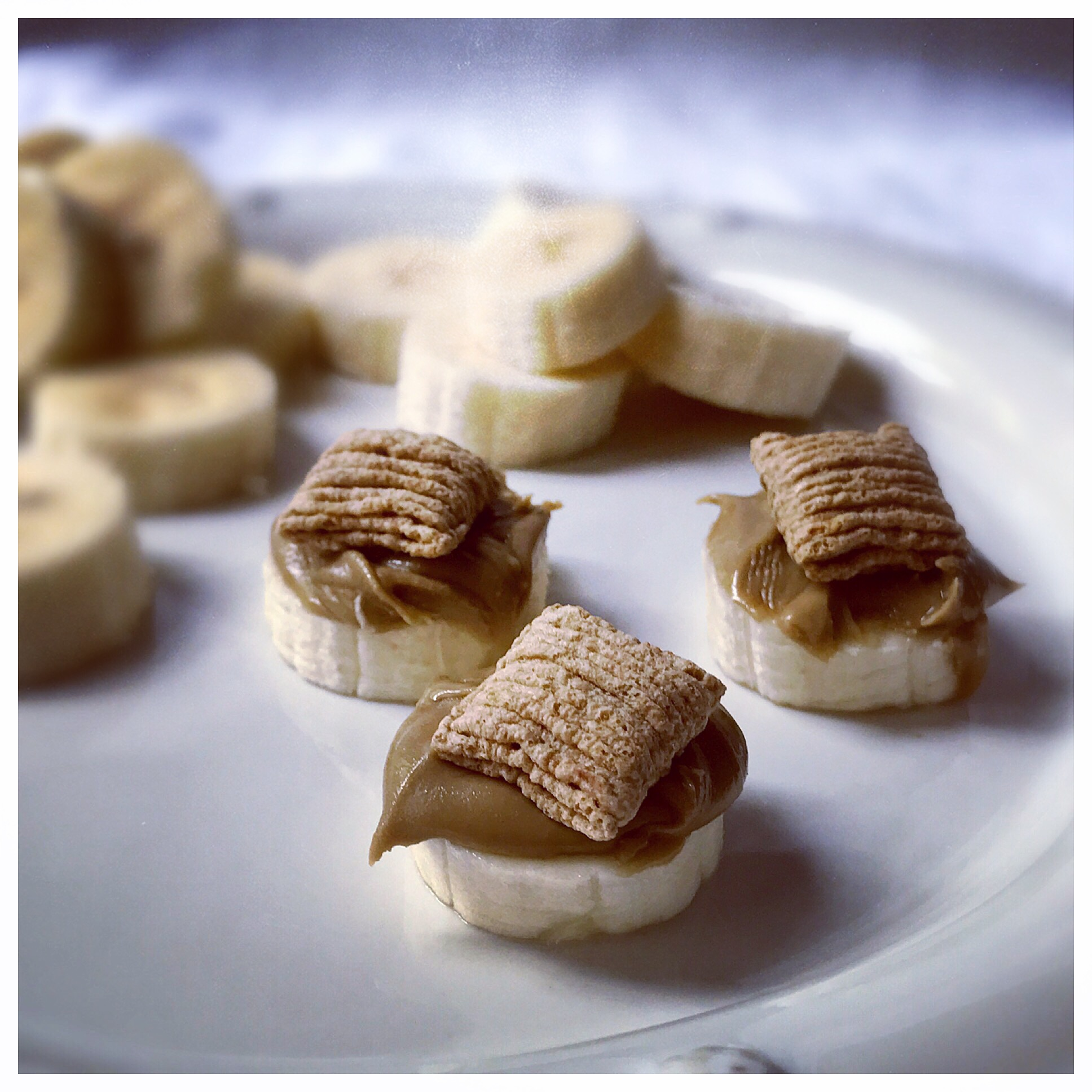 An easy snack that I love pre or post exercise!   Sun Butter Banana Oat Bites   can also be found here