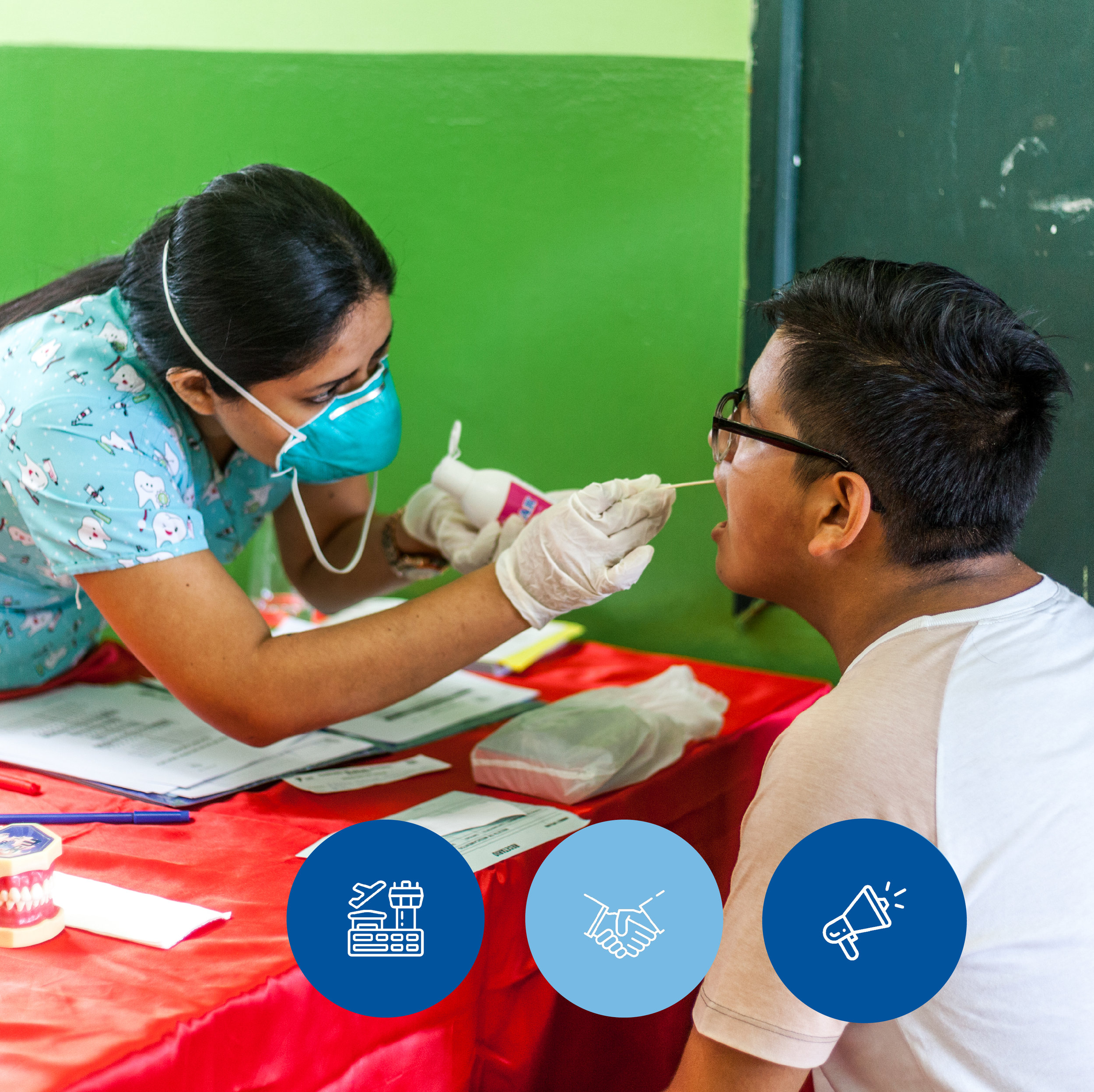 HEALTH CAMPAIGNS - LAP with the support of ADRA, will bring specialties to your locality such as gynecology, otorhinolaryngology, pediatrics, dermatology, dentistry, nutrition, psychology, laboratory, among other.