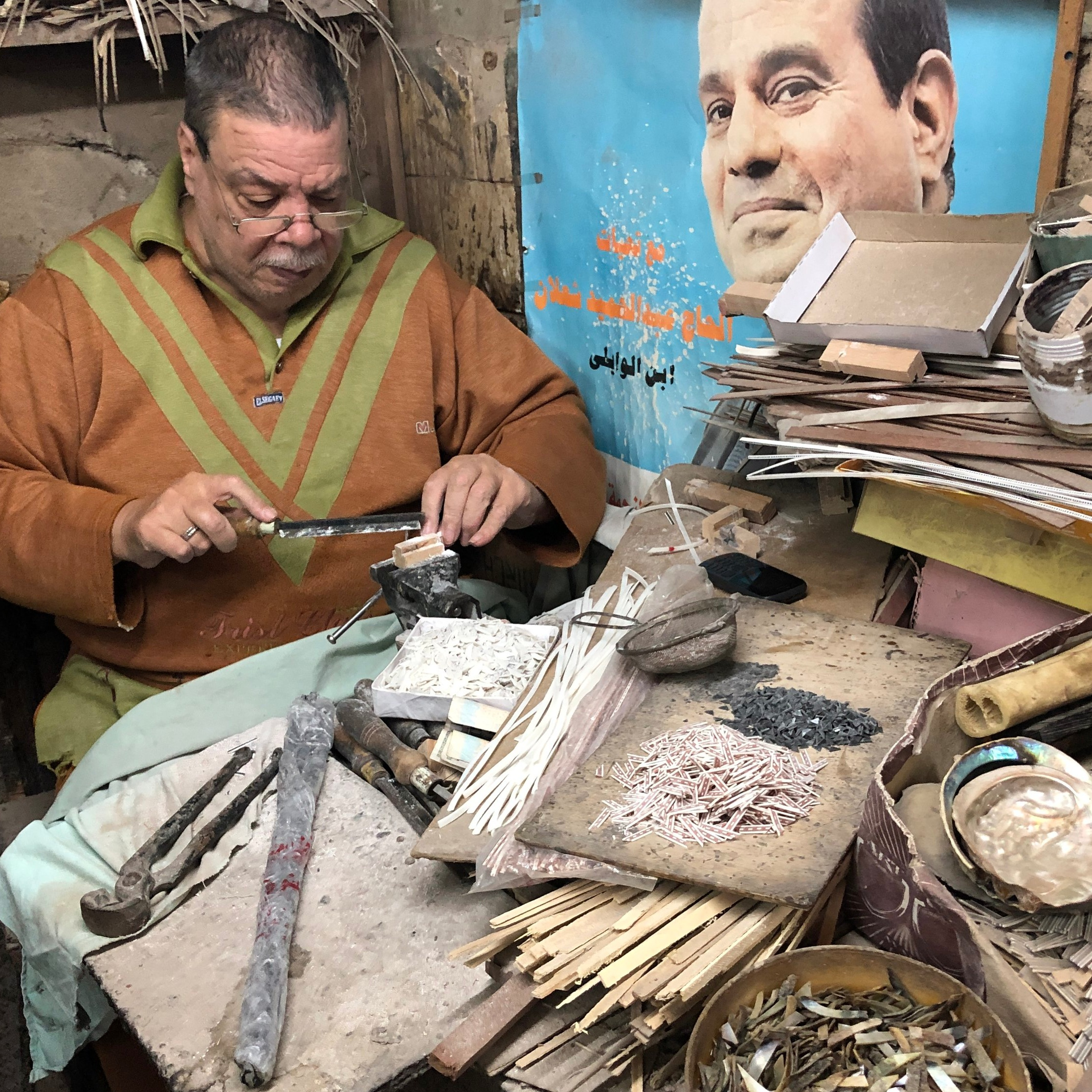 Makers and Artisans at the Khan el Khalili Market in Cairo, Egypt