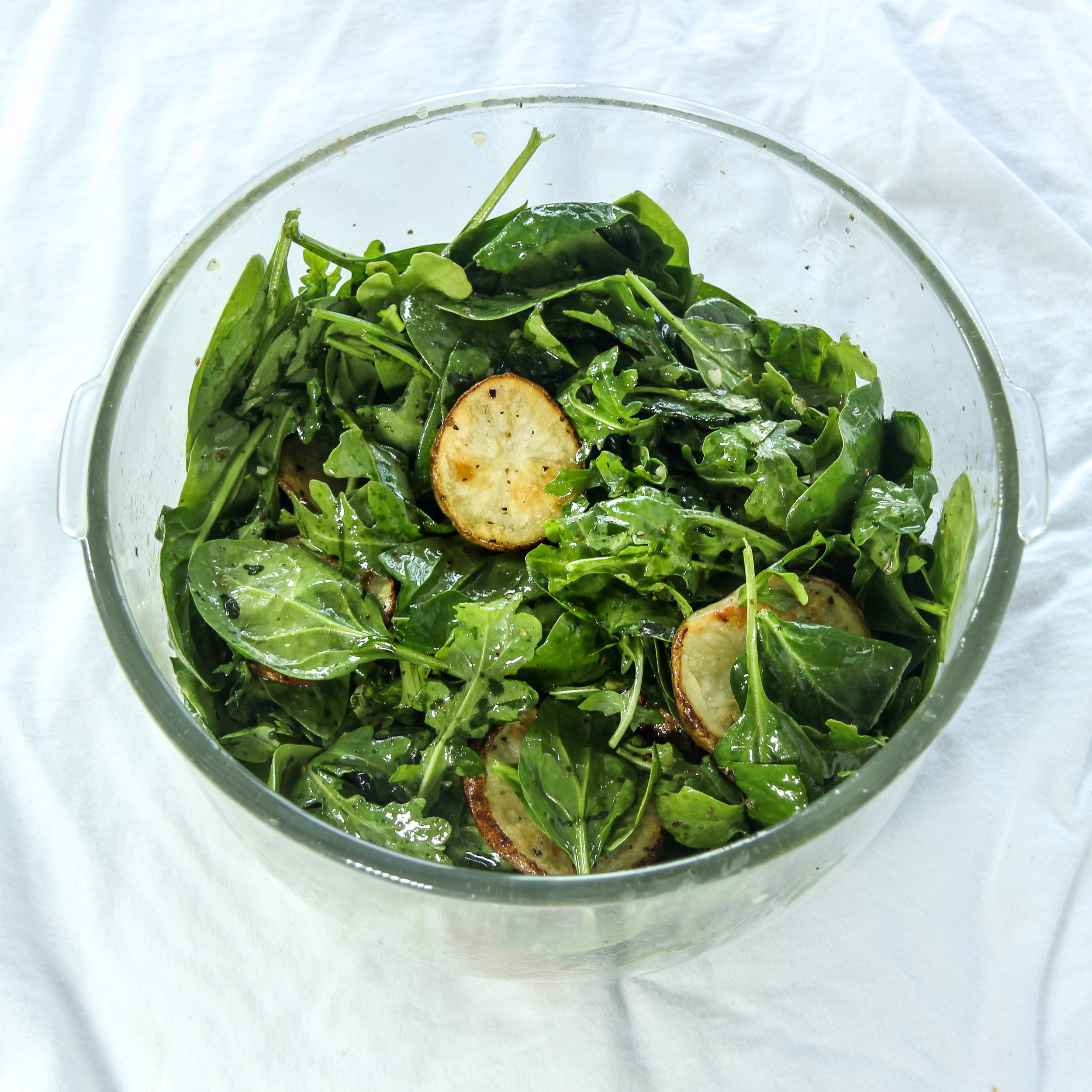 Spring Salad with Garlic Herb Potatoes-process picture, step by step.jpg