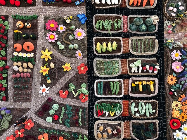 One of the most beloved items in the cafe is the incredibly detailed knitted allotment, recently reinstated - the details are delicious!