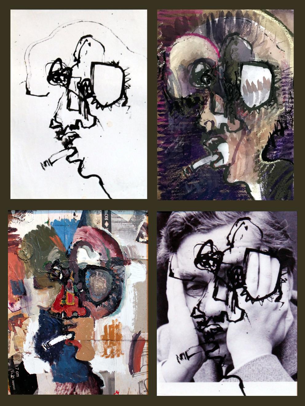 Untitled (heads xxv- xxviii)