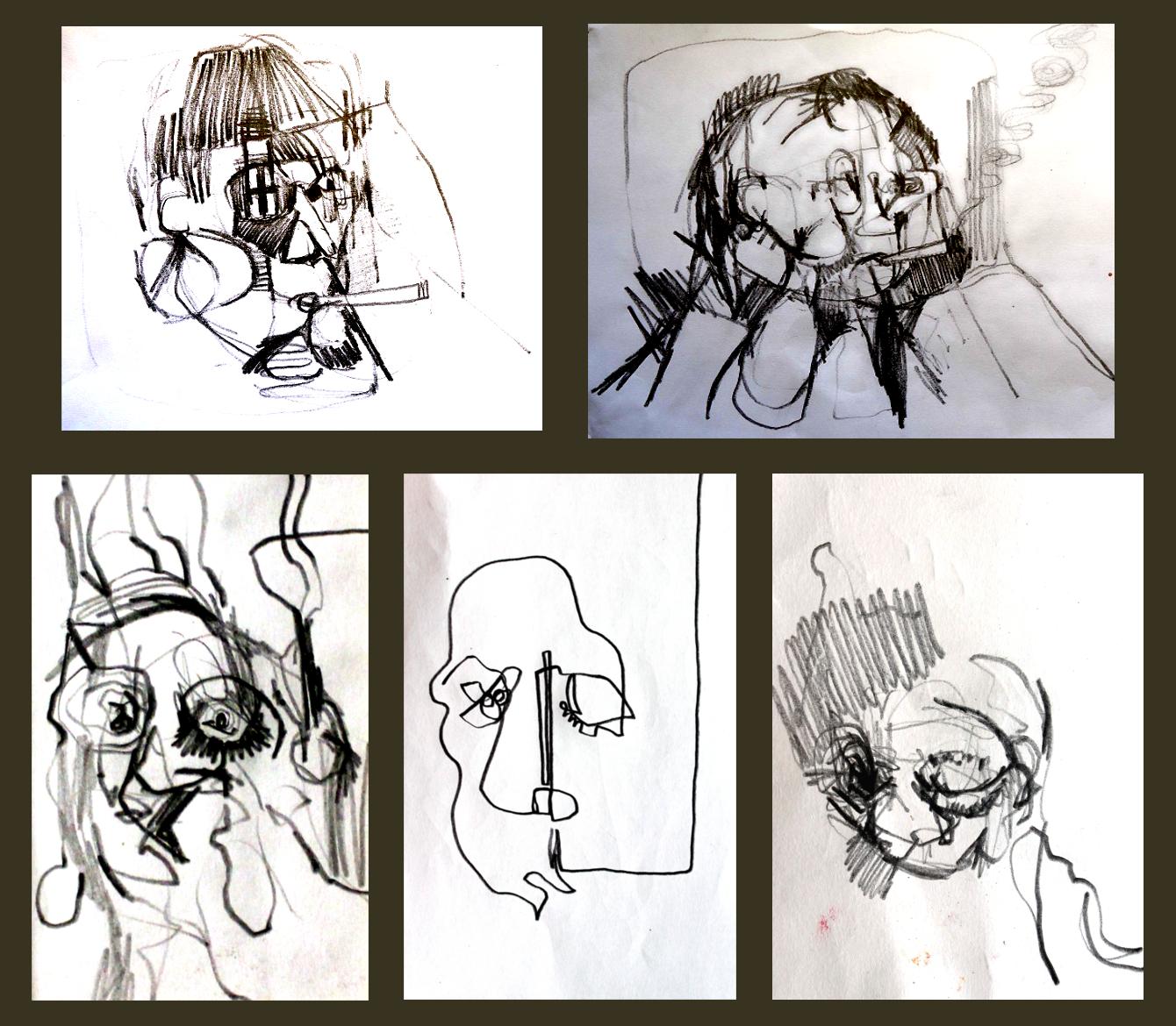 Untitled (heads xxi - xxiv)