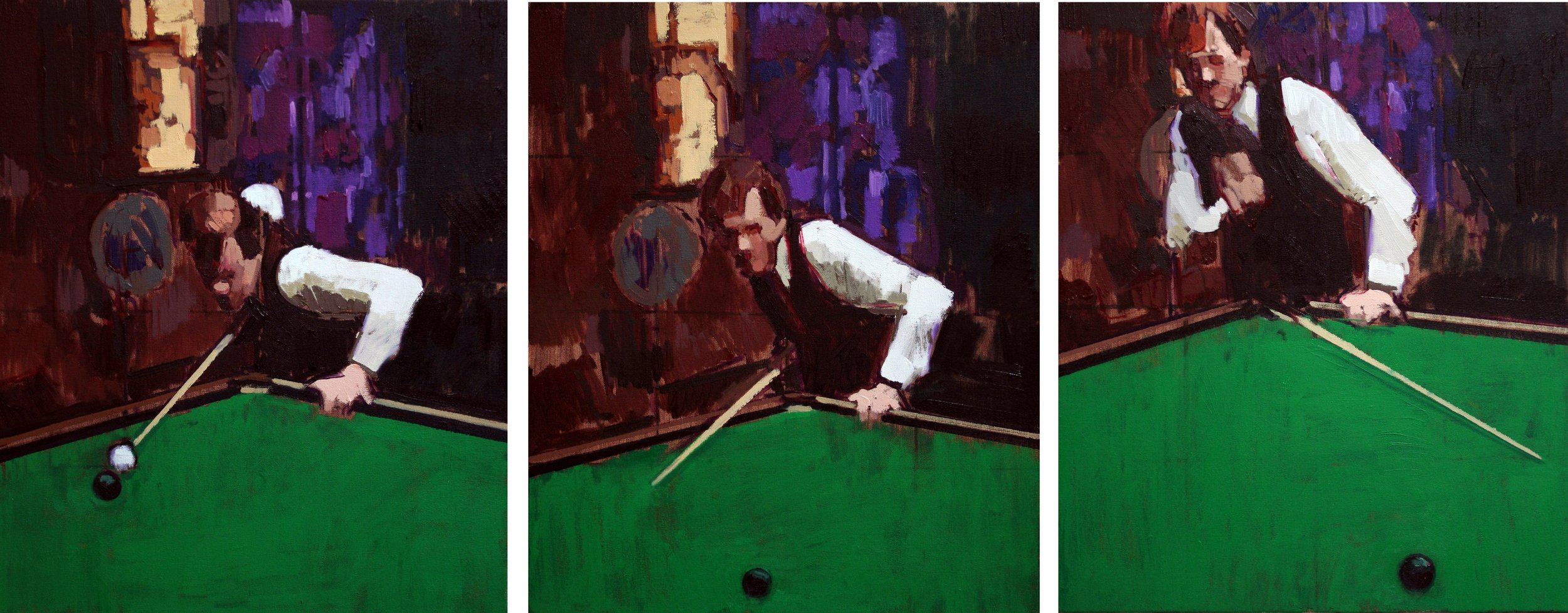 Three Studies for a Portrait of Alex Higgins II