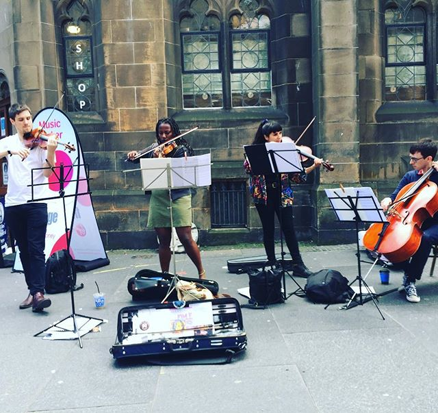 Busking at #edfringe. Make sure to sign up for our house-gig on Monday if you're around.