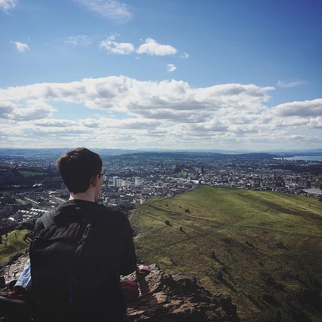 Chris enjoying the scenery at #arthursseat
