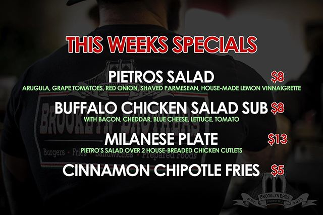 Specials this week are 🔥🔥🔥🔥🔥