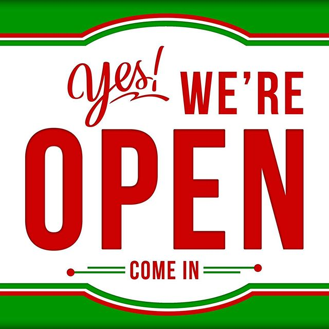 Open as usual for the holiday today. 10:30-5:00