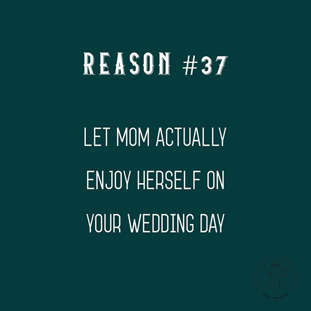 Reason #37 or really Reason #1? FACT - if you choose to host and manage your own bar and beverages on your wedding day you are going to forget at least one thing AND that stress is going to land on someone. It's usually mom and let's just say when there is one bartender for 350 guests so mom is schlepping beer all night in her gown and fancy hair it's not a pretty (or happy!) picture. Let us handle the staff and service portion and let mom catch up with her high school homecoming court. 👑 #weddingbar #bartendingservice #mobilebartender #mnweddingvendors #settingthebar #weddingadvice
