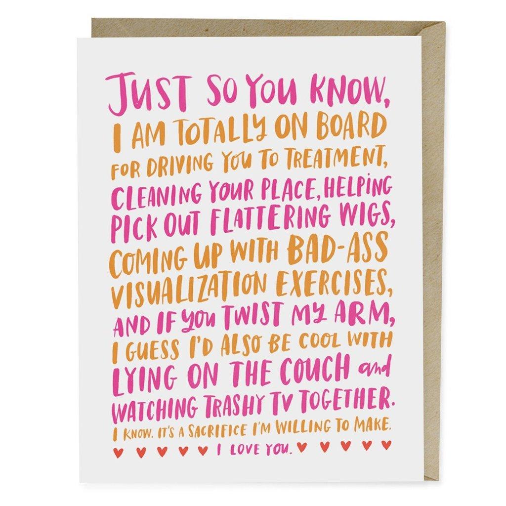 Friendship Through Cancer Empathy Card - Emily McDowell Studio, $4.50